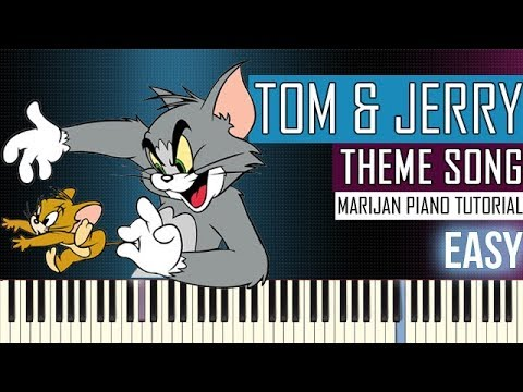 How To Play: Tom & Jerry - Theme Song | Piano Tutorial EASY thumbnail