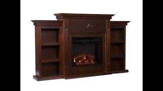 SEI Tennyson Electric Fireplace TV Stand With Bookcase Review - It Does Double Duty