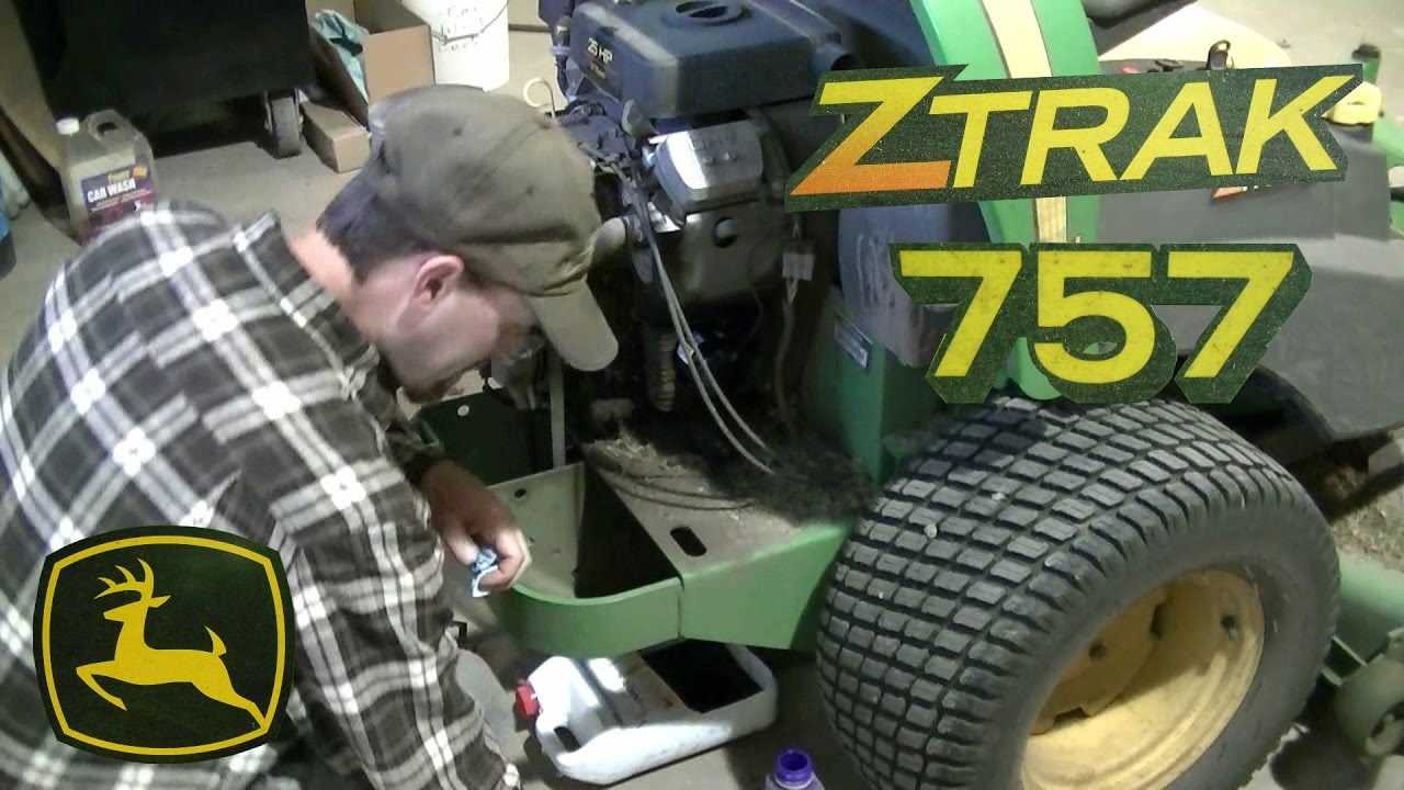 John Deere 757 Ztrak Zero Turn Yearly Maintenance Youtube