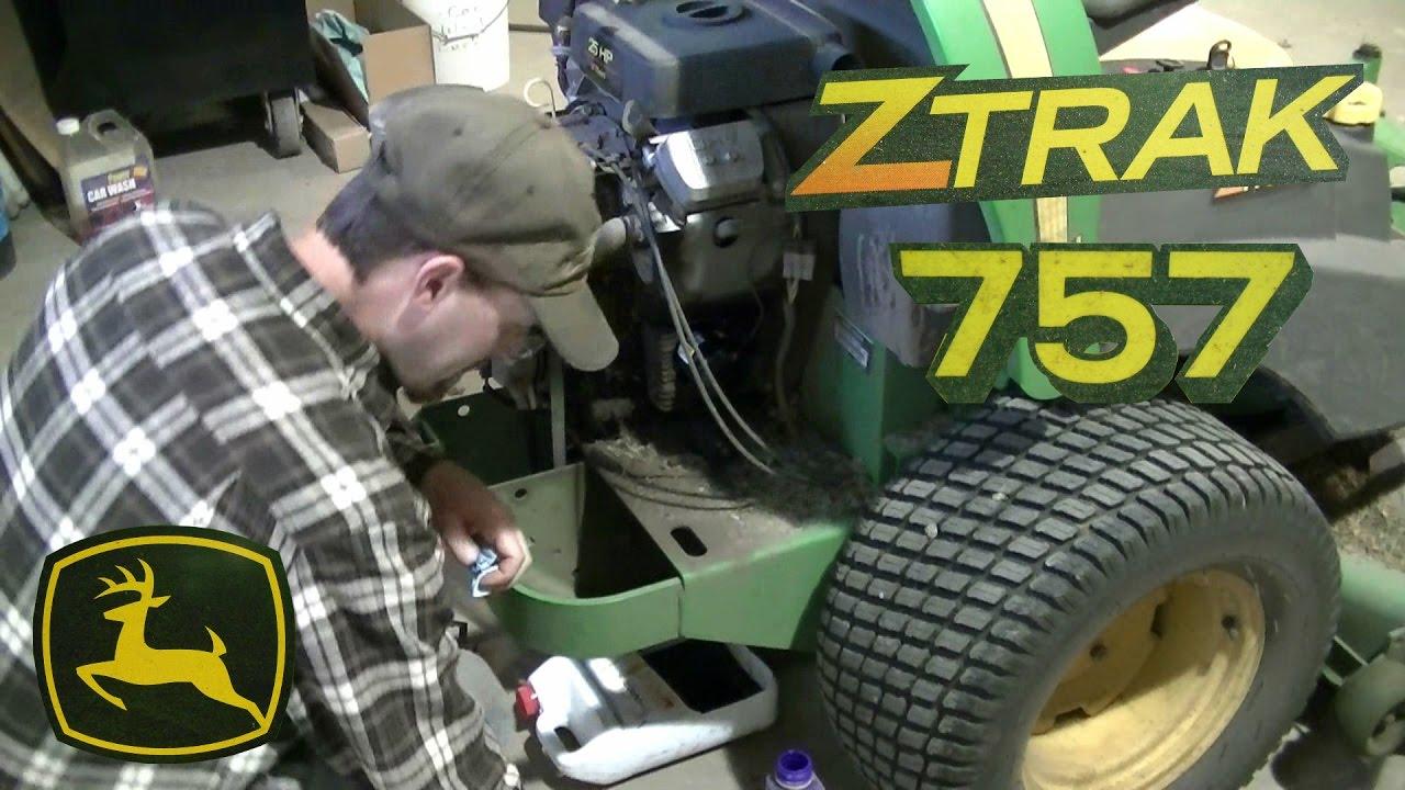 John Deere 757 ZTRAK Zero Turn Yearly Maintenance  YouTube