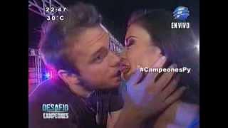 Edwin y Ana Laura se besaron #CampeonesPy