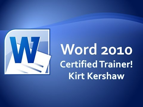 Microsoft Word 2010: Move, Insert And Copy Text