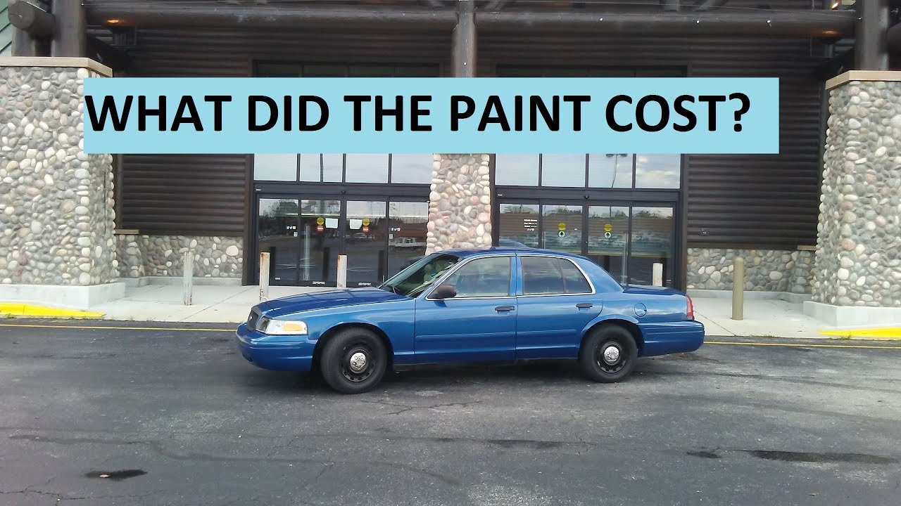 How Much To Paint A Car >> How Much It Cost To Paint The Crown Vic