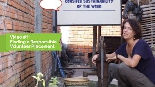 Learning Service : FINDING A RESPONSIBLE VOLUNTEER PLACEMENT