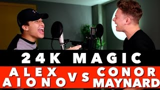 Download Bruno Mars - 24K Magic (SING OFF vs. Alex Aiono) 1 hour loop! MP3 song and Music Video