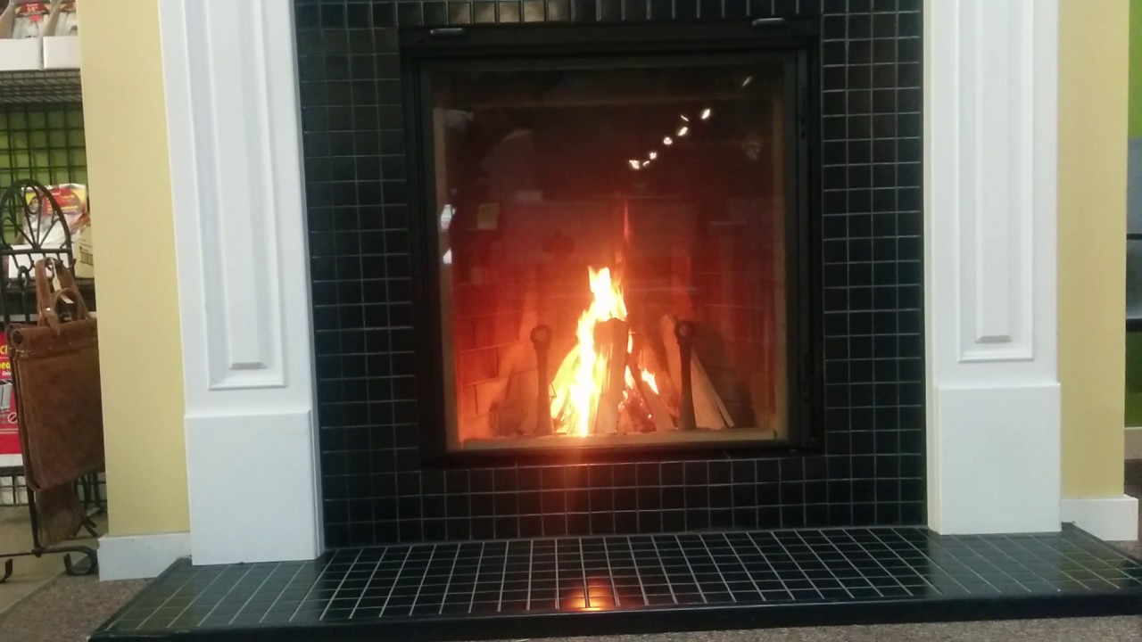 Burning the Renaissance Rumford 1000 Zero Clearance Wood Burning Fireplace.