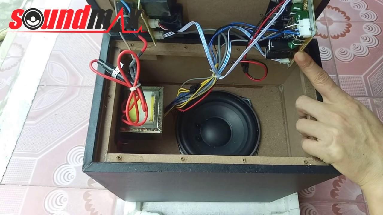 Mở thùng loa siêu trầm loa vi tính hát karaoke SoundMax A