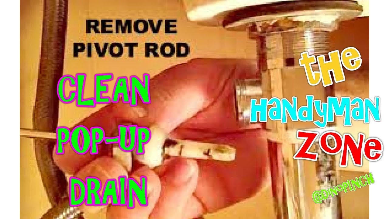 Bathroom Sink Zone remove & clean sink pop-up drain - youtube