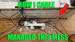 ULTIMATE Cable Management Guide 2020   How I Cable Managed My Setup!