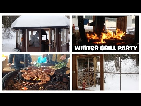 Grill party in Finland! Finnish Kota // Grill house