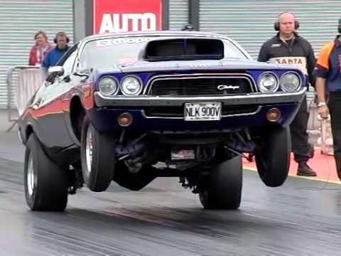 Dodge Challenger Slow Motion Wheelie Youtube