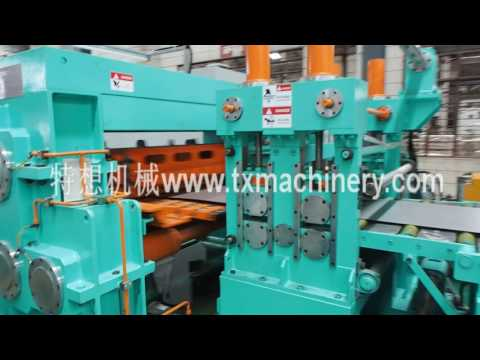 850mm rotary shear cut to length line