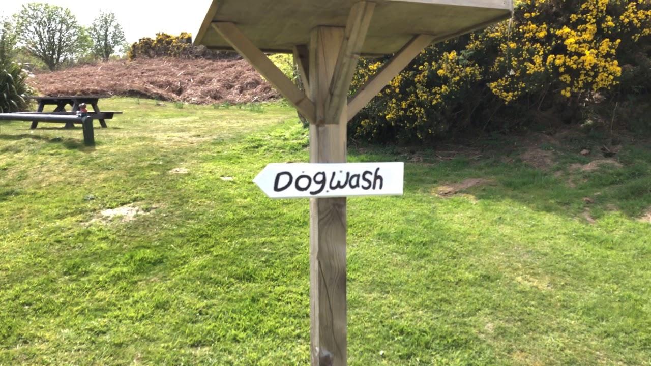 3238fcadbe0 Dog Wash Facilities at Caravan and Motorhome Club Site. Incleboro Fields,  West Runton, Norfolk.