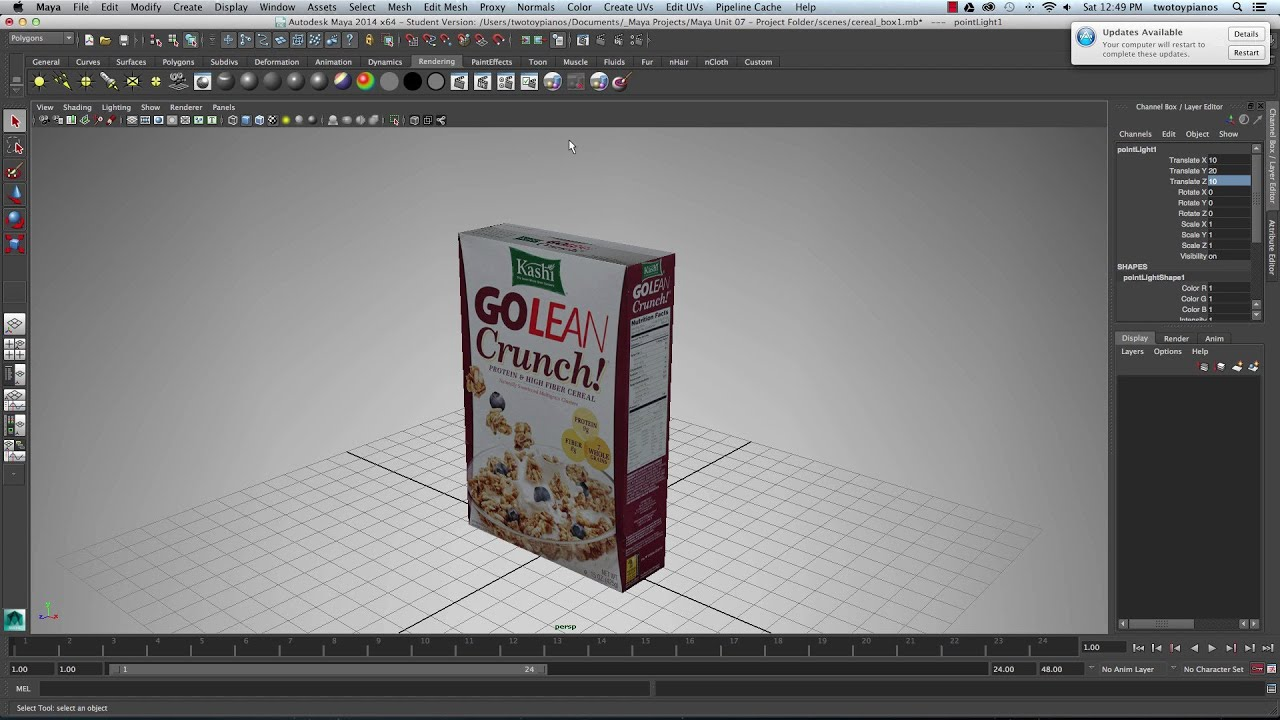 Google Autodesk Uv Texturing A Cereal Box Autodesk Maya 2014 Youtube