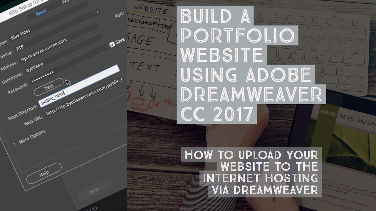 How to upload your website to the internet hosting via Dreamweaver - Dreamweaver Templates [35/38]