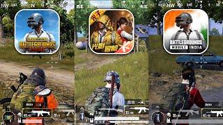 PUBG Mobile Vs Game For Peace Vs Battlegrounds Mobile India     PUBG Vs GFP Vs BGMI    PK