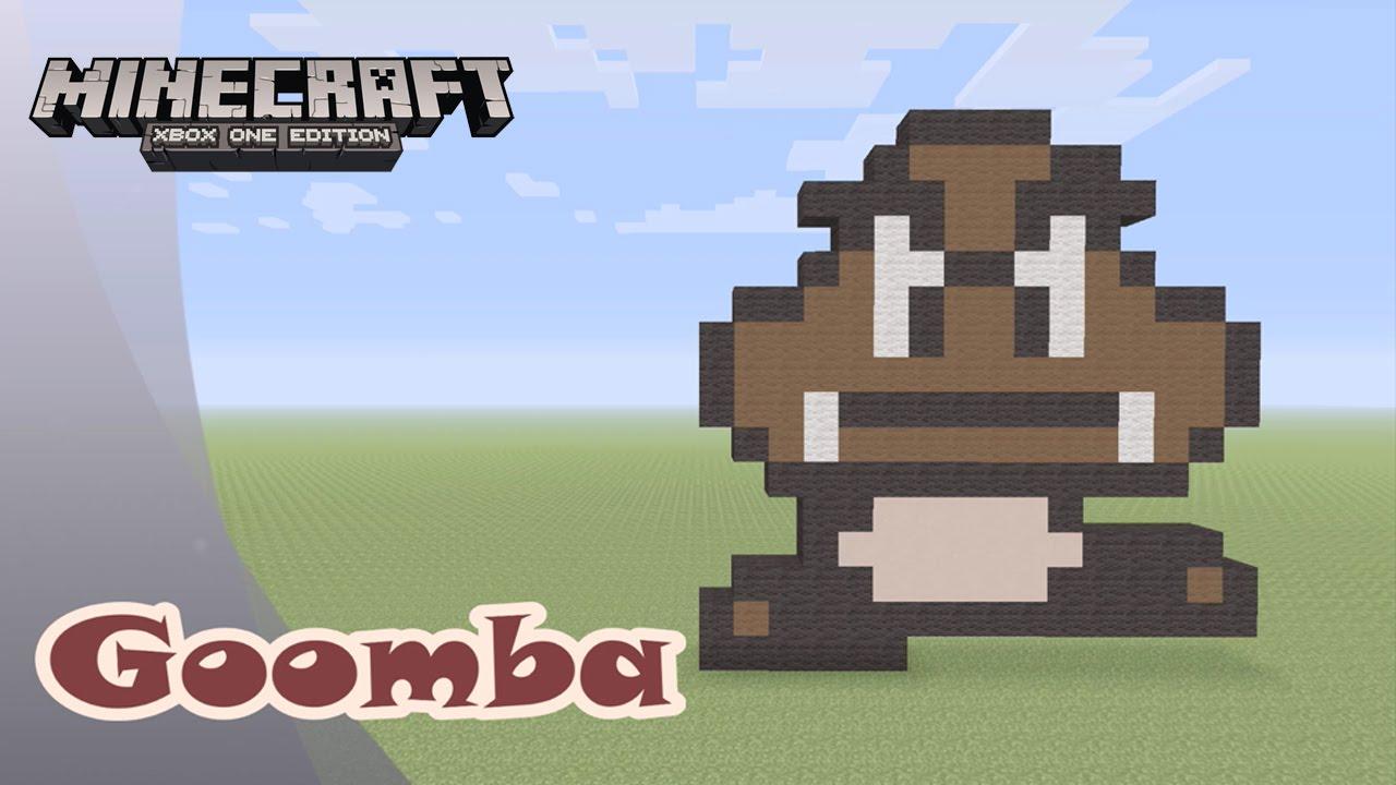 Minecraft Pixel Art Tutorial And Showcase Goomba Super Mario