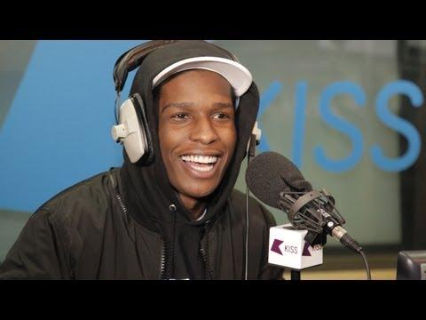 """A$AP Rocky """"Kiss Hip Hop Show"""" Freestyle!"""