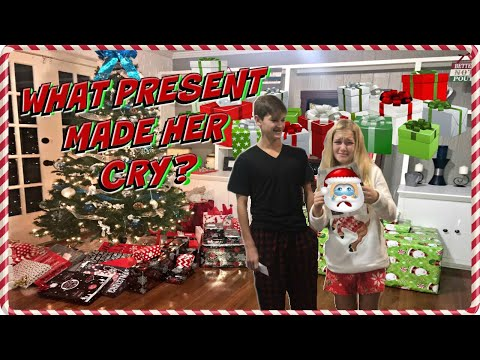CHRISTMAS MORNING 2017: OPENING PRESENTS: WHAT PRESENT MADE HER CRY?