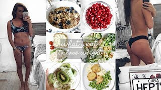 WHAT I ATE IN A DAY TO LOSE WEIGHT - 40LBS WITHOUT WORKING OUT