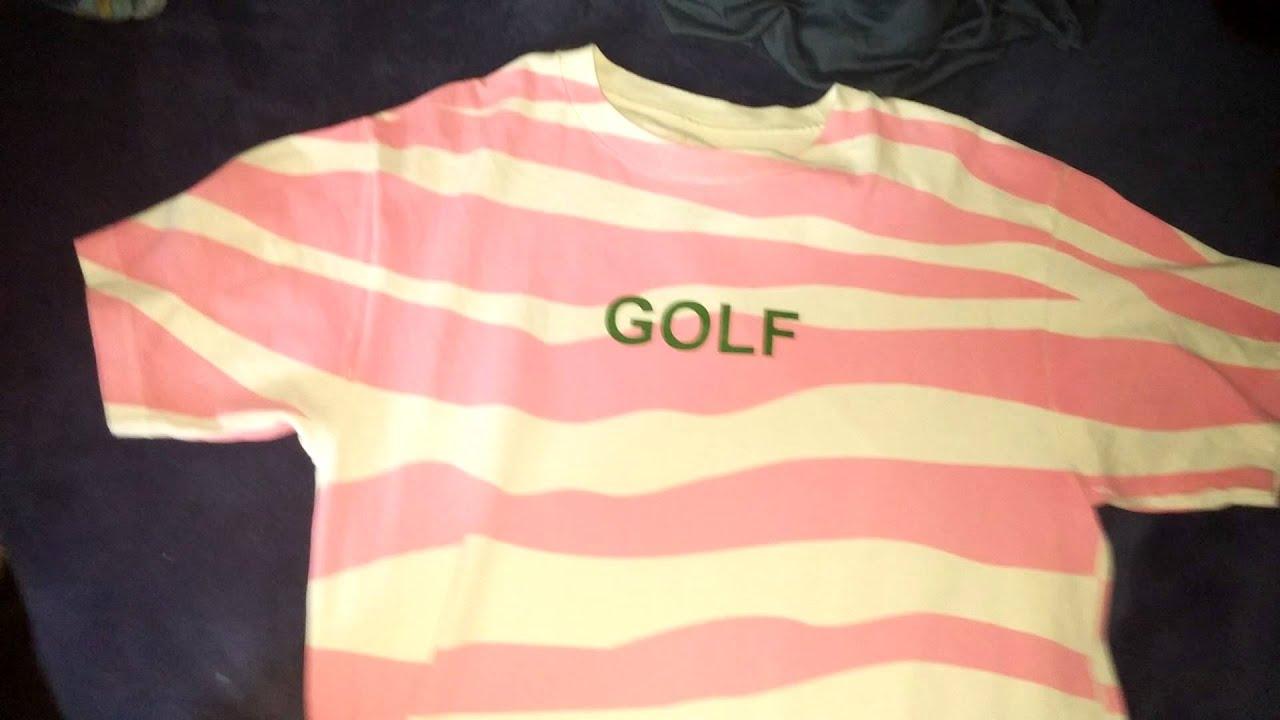 25928497d8d227 Golf wang tiger stripe tee pink - YouTube