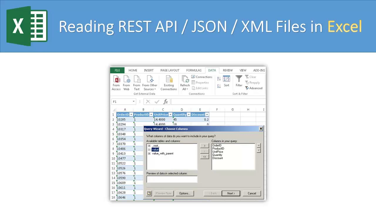 Import JSON to Excel (Load JSON File or REST API with Pagination)