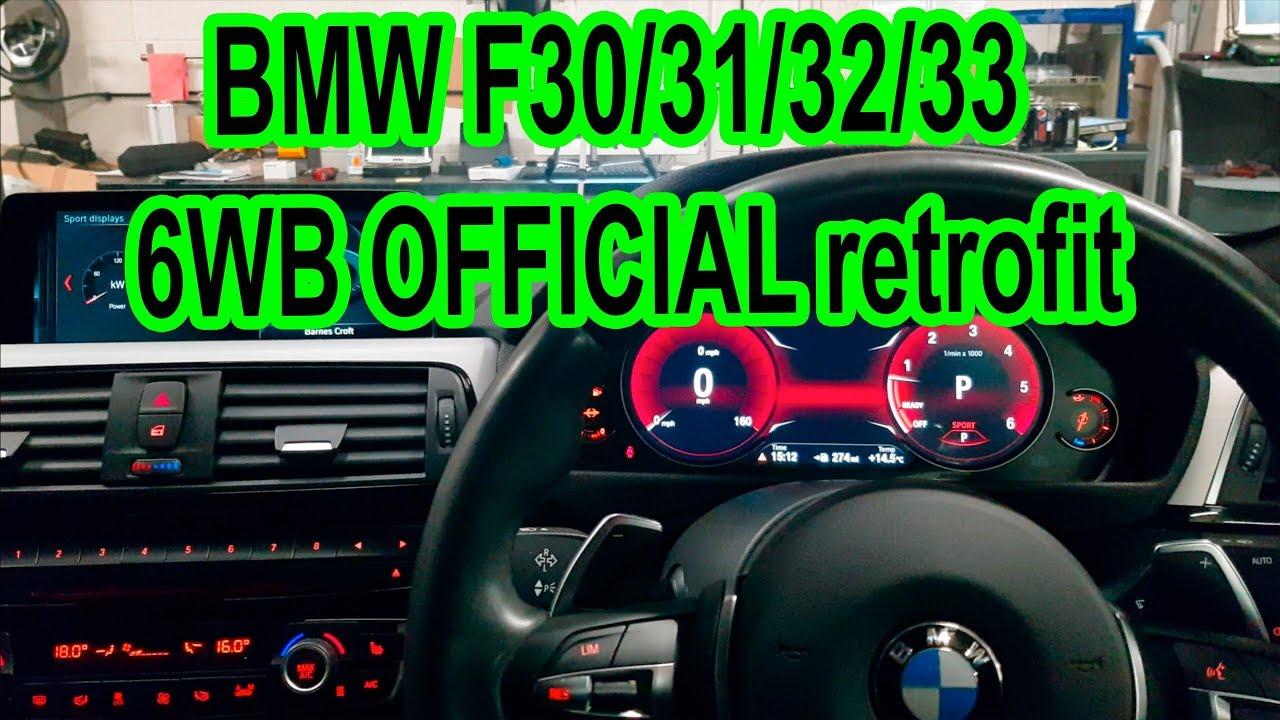 BMW F30 F31 F33 F32 6WB OFFICIAL retrofit Instrument cluster - INCLUDING  CODING