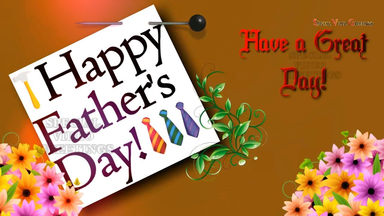 Happy Father's Day 2017, Wishes, Images, Quotes, Whatsapp, Animation (Special Video Greetings) - YouTube