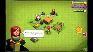 clash of clans GEMAS INFINITAS-PONIENDO LA ALDEA AL MAXIMO :v
