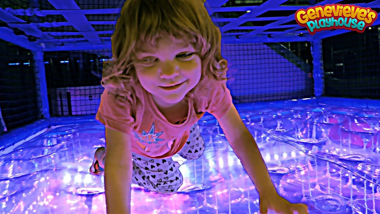 Family Fun with Cute Kid Genevieve at the Indoor Playground!
