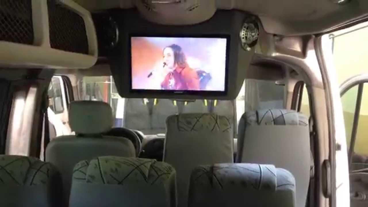 Instala o tv dvd e som para vans sprinter ribeiro transforma es youtube for Van de tv