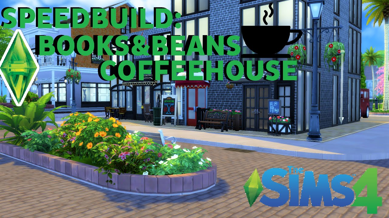 The Sims 4 Industrial Coffee Shop Community Lot Speed Build with CC Links!