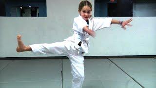 Girl Taps Out 210 Pound Black Belt