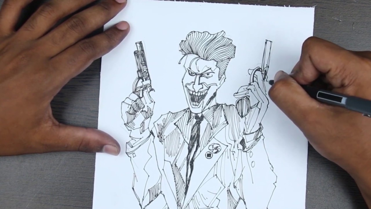 How to joker drawing For BEGINNERS ! with pencil sketch ...