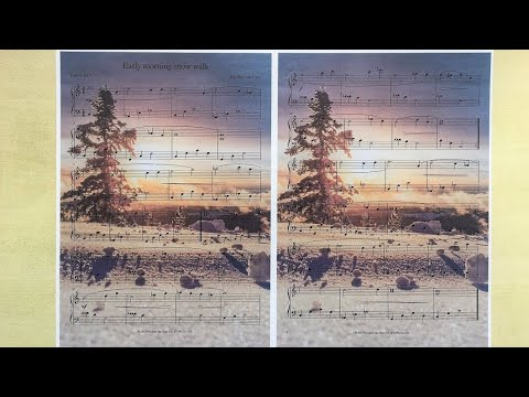 Early morning snow walk - Free sheet music - Easy original song