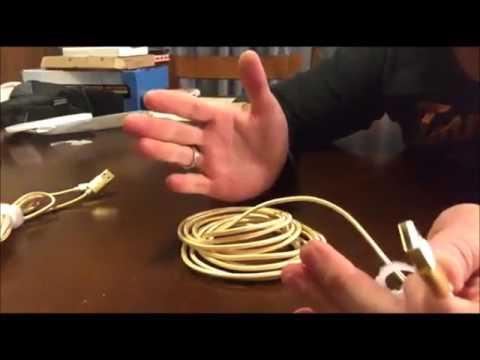 Cooland 3Pack 3ft 6ft 10ft Nylon Braided USB Lightning Cables