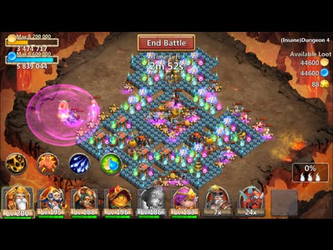 Final Insane Dungeon Owned By Different Set Ups Free To Play Heroes + Double Evolved Mino
