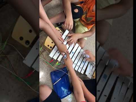 Makey Makey instruments - Electric Xylophone (Wallace)