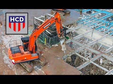 HAYWOOD CRUSHING DEMOLITION LTD Crown Works Factory Worcester / Metal Box Week 7 Progression 6K HD