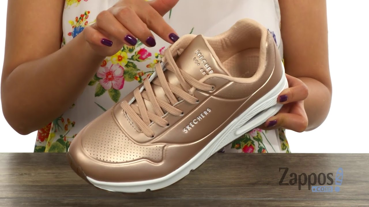 4efd55382dd7 SKECHERS Uno - Rose Bold SKU  9025646 - YouTube
