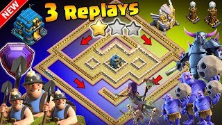 'New Amazing' TH12 WAR BASE 2018 With 3 Replays Anti Bowler Anti 2 Star Anti Miner Anti Queen Walk