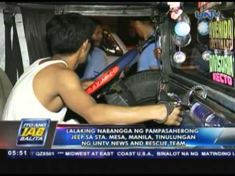 Lalaking nabangga sa Sta. Mesa, Manila, tinulungan ng UNTV News and Rescue Team