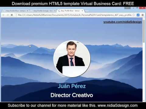 how to make a personal website vcard business card html5 how to make a personal website vcard business card html5 responsive reheart Images