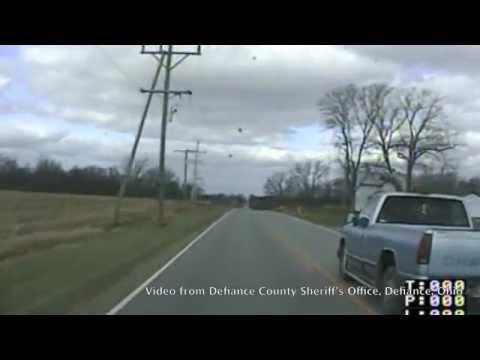 Police chase - Defiance County, Ohio - Nov. 13, 2012