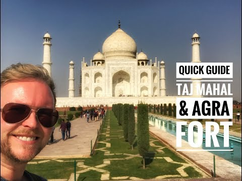 Quick Guide to Taj Mahal and Agra Fort. Getting there from New Delhi तज महल タジマハル
