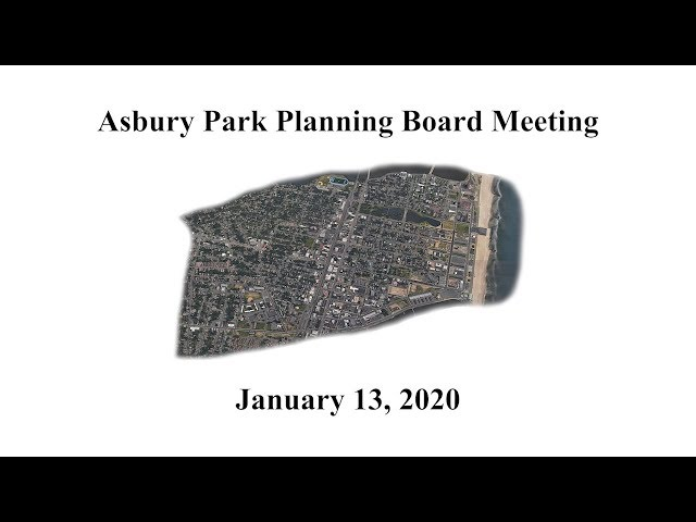 Asbury Park Planning Board - Jan. 13, 2020