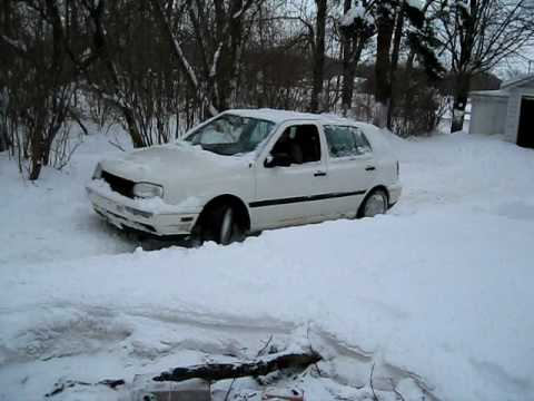 vw golf turbo redline burnout stuck in snow exhaust sound. Black Bedroom Furniture Sets. Home Design Ideas