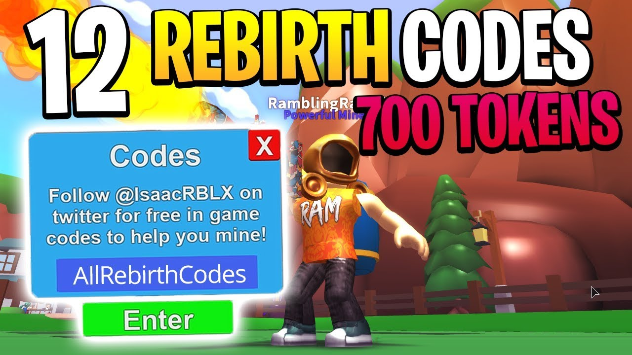 roblox mining simulator rebirth codes