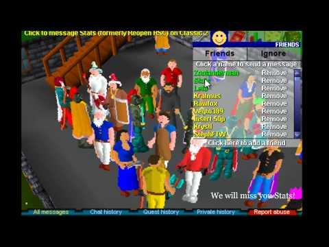 Runescape Classic - Stats' Quitting Drop Party (RSC) [Part 2/2]