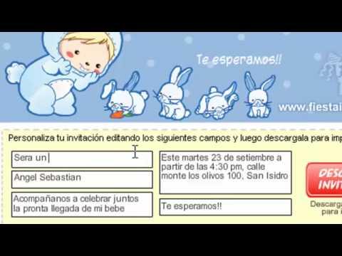 Invitaciones Baby Shower Fiesta Gratis